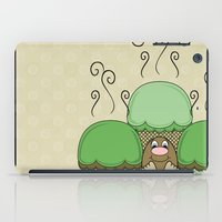 Cute Monster With Green And Yellow Frosted Cupcakes iPad Case