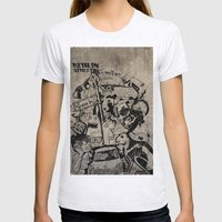 Berlin Street Art concrete Womens Fitted Tee Ash Grey SMALL