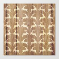 Christmas Pattern On Woo… Canvas Print