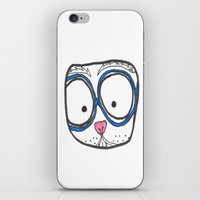 Blue Glasses iPhone & iPod Skin