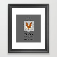 Kitsune: The Nogitsune F… Framed Art Print