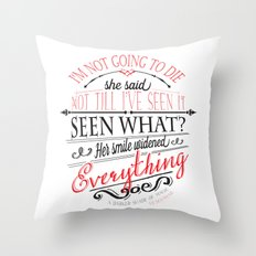 A DARKER SHADE OF MAGIC by V.E.Schwab - Book Quote Throw Pillow
