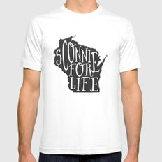 Sconnie for Life Mens Fitted Tee SMALL White
