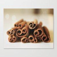 Cinnamon Sticks Bokeh Canvas Print