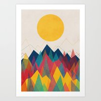 rainbow Art Prints featuring Uphill Battle by Picomodi