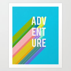 Adventure in Blue Art Print