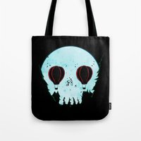 Skull Moon Tote Bag