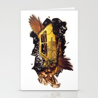 The Big Bang   Collage Stationery Cards