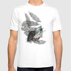 Birdster SMALL White Mens Fitted Tee