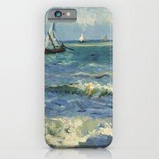 Seascape near Les Saintes-Maries-de-la-Mer by Vincent van Gogh iPhone 6 Slim Case
