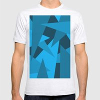 Triangles Mens Fitted Tee Ash Grey SMALL