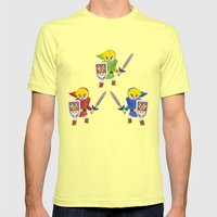 Links! Mens Fitted Tee Lemon SMALL