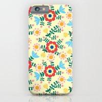 Folk Floral (yellow) iPhone 6 Slim Case