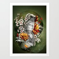 As a lotus Art Print