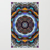 Rug featuring Reflective Fractal Manda… by Phil Perkins