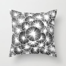 White Pinwheels Throw Pillow