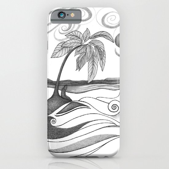 Abstract Art Tropical Black and White Drawing WHO AM I TO DISAGREE by ROMI iPhone & iPod Case