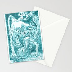 Creatures under Lamppost Stationery Cards