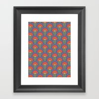 Bright Floral Arches Framed Art Print