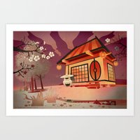 Imaginery Asian Landscap… Art Print