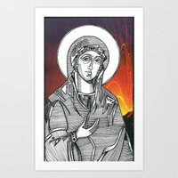 Madonna Of The Volcanoes Art Print