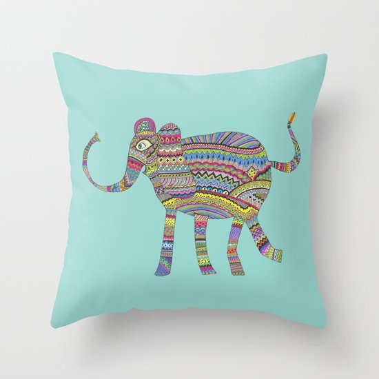rainbow child Throw Pillow