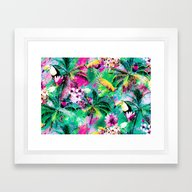 Exotic Vegetation Framed Art Print