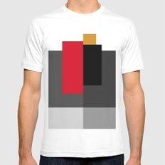 rectangles2 SMALL White Mens Fitted Tee