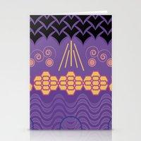 HARMONY pattern Alt 3 Stationery Cards