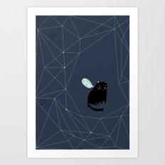my_spacecat Art Print