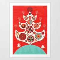 Festive Yule Christmas T… Art Print