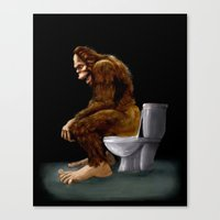 Bigfoot Breaks Into Some… Canvas Print