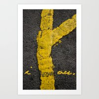 I Love You. Art Print