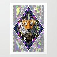 Trippin' Tiger Art Print