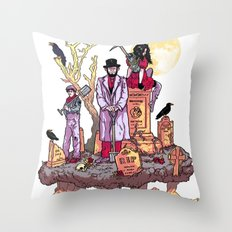 Gravediggers Throw Pillow