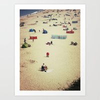 Beach (English Riviera) Art Print