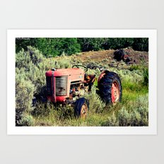Wanna Take A Ride On My Tractor? Art Print