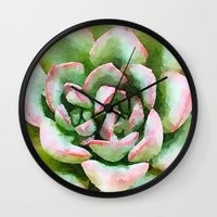 Spring Succulent Wall Clock