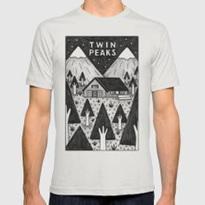 Twin Peaks Mens Fitted Tee Silver SMALL