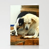 Like cats and dogs Stationery Cards