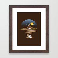 Old town coffee Framed Art Print