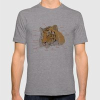Tiger Colors Mens Fitted Tee Athletic Grey SMALL