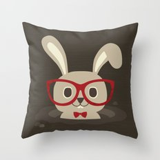 Funny Bunny Throw Pillow