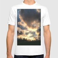Clouds On Fire Mens Fitted Tee White SMALL