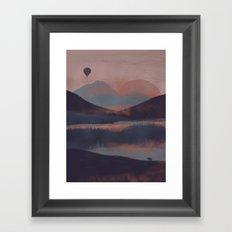 Adrift in the Mountains... Framed Art Print