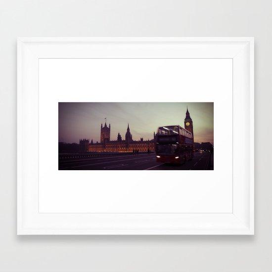 Big Ben at dusk, London | cinematic Framed Art Print