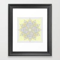Sunny Doodle Mandala In … Framed Art Print