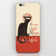 A French Ninja Cat (Le C… iPhone & iPod Skin