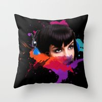 sexy stereo::famke Throw Pillow