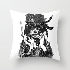 Chicana Throw Pillow